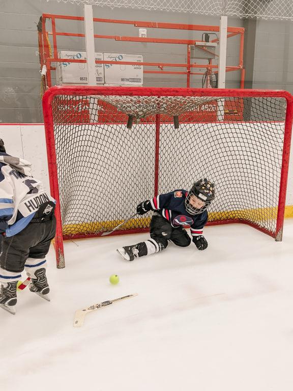 James Burns in the net.