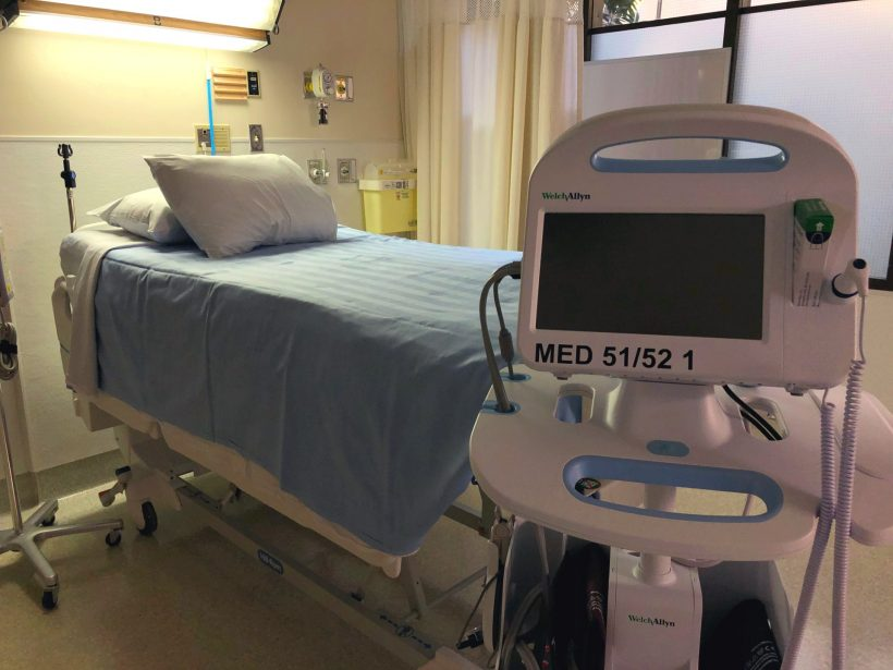 One of the new acute care beds at the Royal University Hospital.