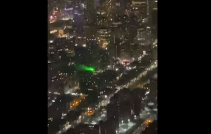 A green laser was directed toward a Ornge air ambulance, injuring the pilot and paramedic on board.
