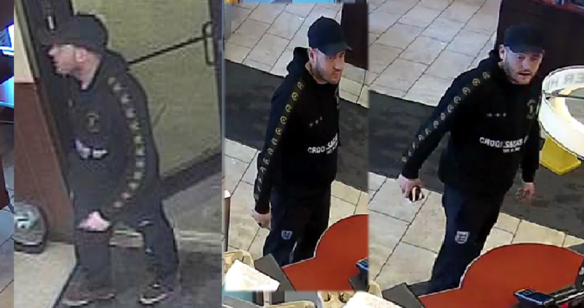 RCMP have released these photos of the suspect in a string of counterfeit currency.
