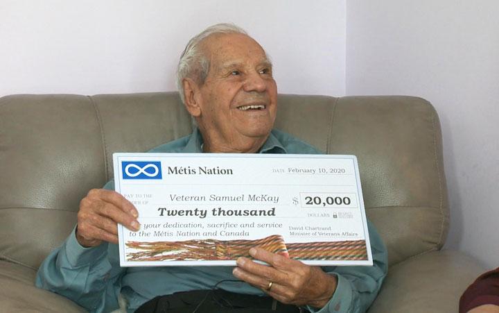Métis veteran in Sask. receives $20K for service during Second World War