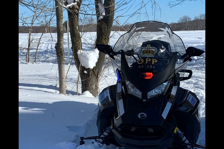 A OPP snowmobile is seen here in an undated photo.