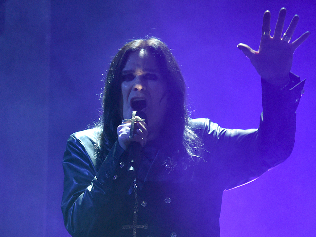 Ozzy Osbourne performs onstage during the 2019 American Music Awards at Microsoft Theater on November 24, 2019 in Los Angeles, Calif.