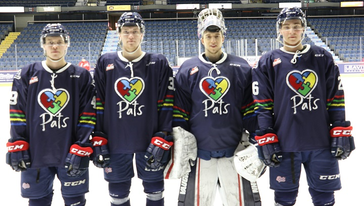 The Regina Pats will be wearing customized jerseys against the Saskatoon Blades on Friday in support of those living with autism.