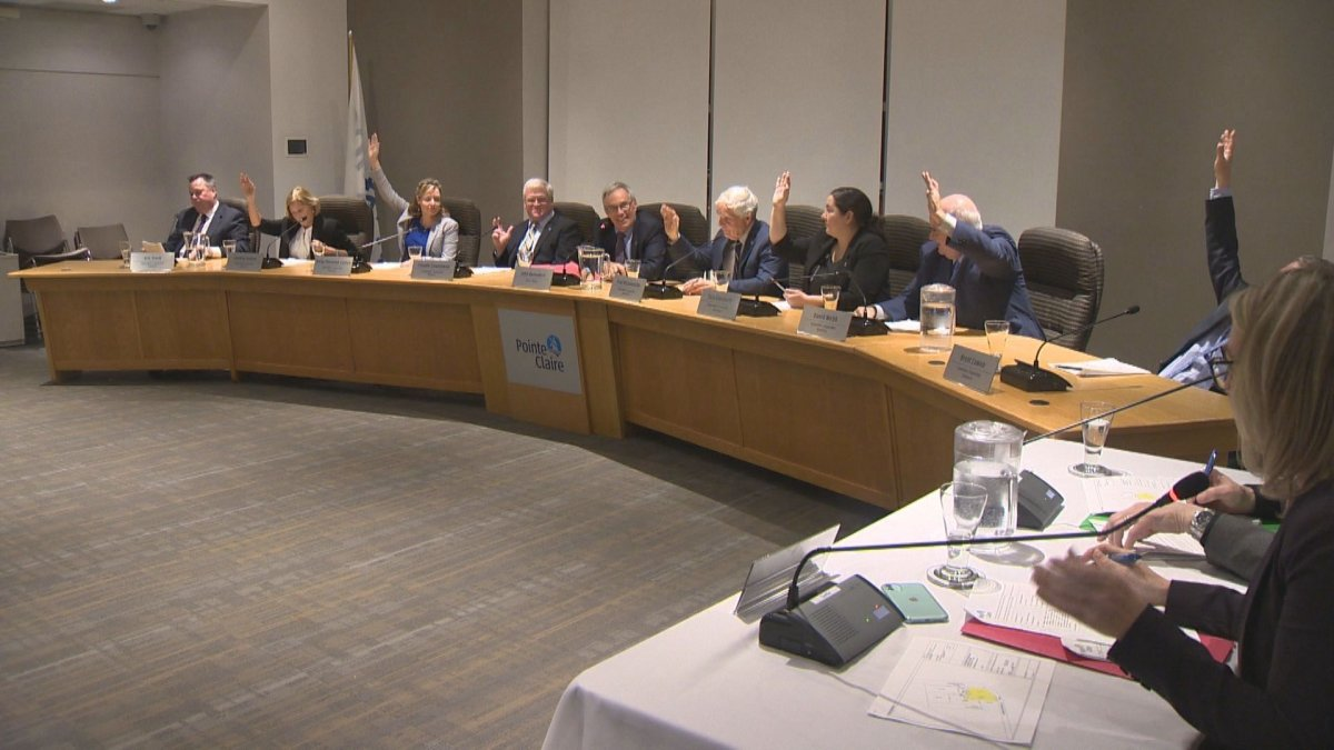 Pointe-Claire city council votes unanimously to purchase piece of land in the area known as the village. Tuesday February 18, 2020.