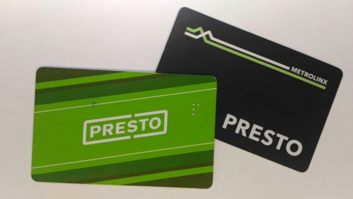 File photo - Presto cards.