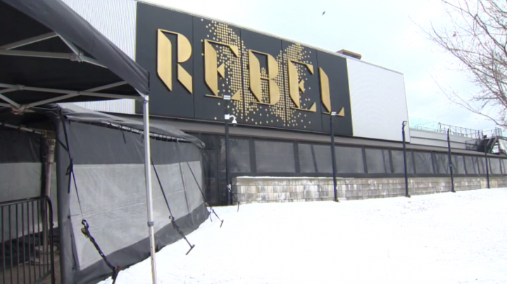 The stabbing reportedly occurred near Rebel nightclub early Saturday.