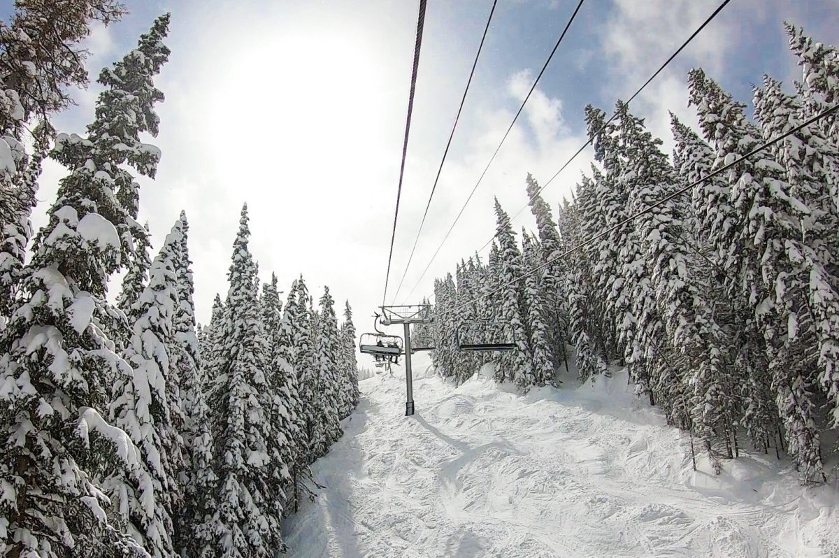 A chairlift is shown at Vail Mountain in Colorado.