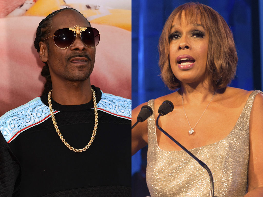 (L-R) Snoop Dogg and Gayle King.