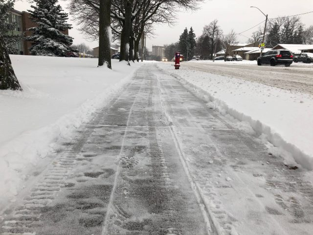 The city will spend an addiitonal $2.3 million, to clear snow from an additional 783 kms of sidewalk along transit routes.