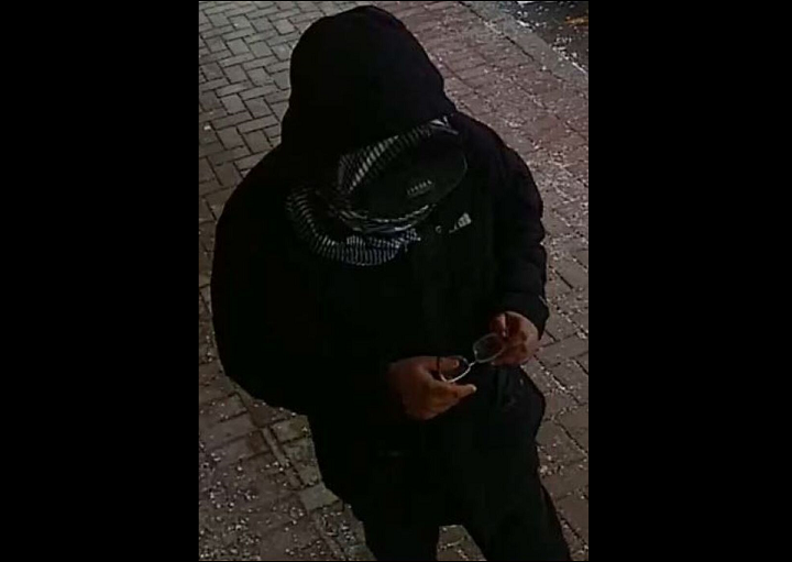 Police released this photo of a suspected wanted in connection with a robbery near Keele Street and Sheppard Avenue West on Feb. 7.