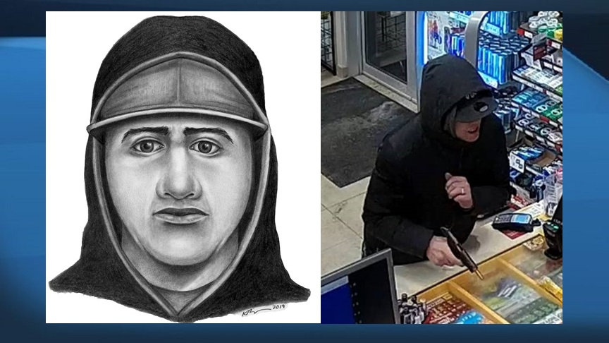 Police are looking for information about a suspect who allegedly robbed a fuel station at gun point in January 2020.