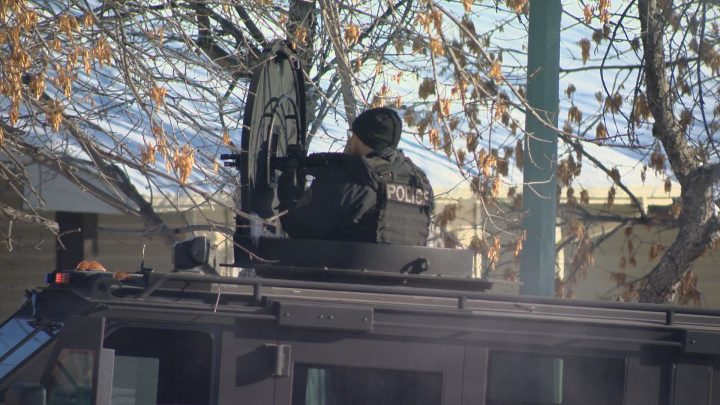 A member of the Saskatoon Police Tactical Support Unit.