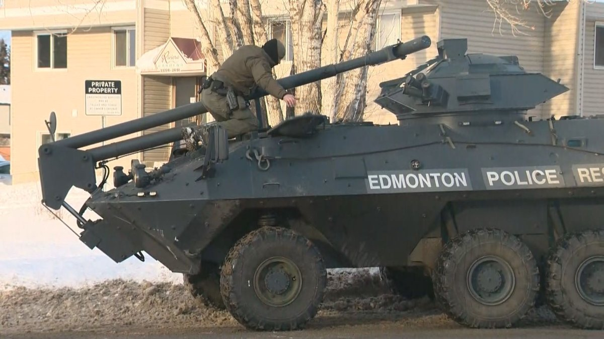 Edmonton police responded to reports of a shooting at an apartment building in northeast Edmonton on Sunday.