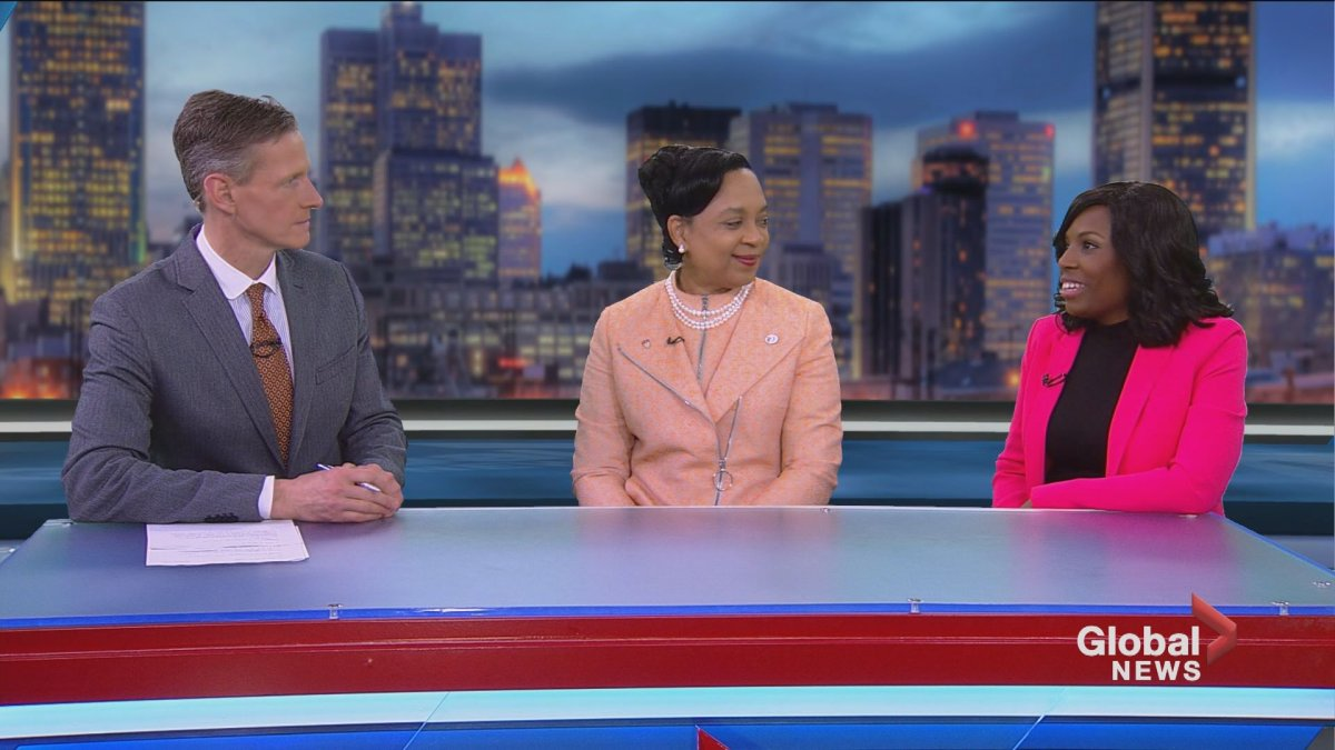 """Tim Sargeant sits alongside Dr. Anita Brown-Johnson from the family medicine department of the Montreal General Hospital and Dr. Fadji Koffi, a podiatrist with the Clinique Opus, to discuss """"A Taste of Tea"""" gala."""
