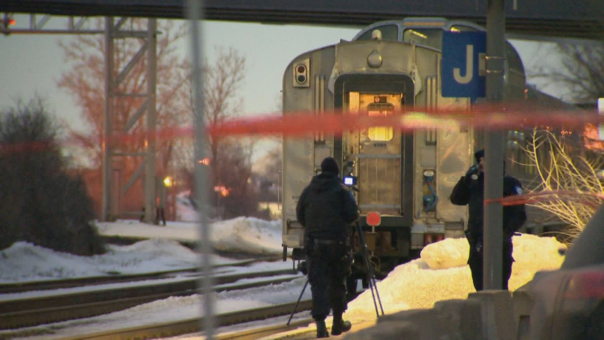 A pedestrian was killed by a Via Rail train at the Dorval train station early on the morning of Wednesday, Feb. 26, 2020.