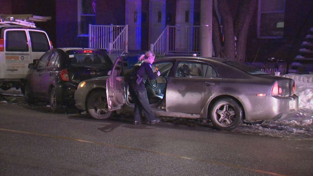 Montreal police have made four arrests after a suspected car theft in the borough of Verdun on the night of Sunday, 16 Feb., 2020.