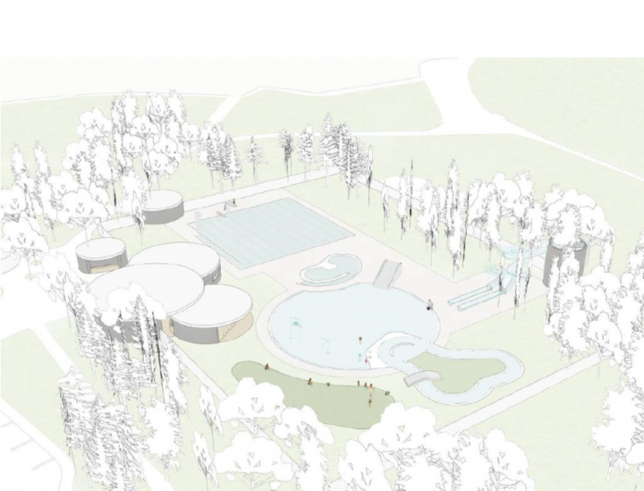 A proposed design for a new outdoor pool in Wascana Park.