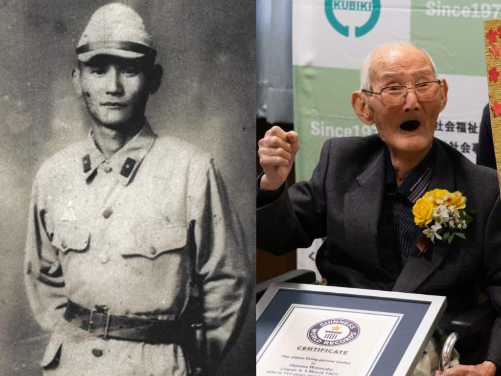 Japan's Chitetsu Watanabe from Niigata died at age 112 just weeks after being officially confirmed as the oldest male alive by Guinness World Records.