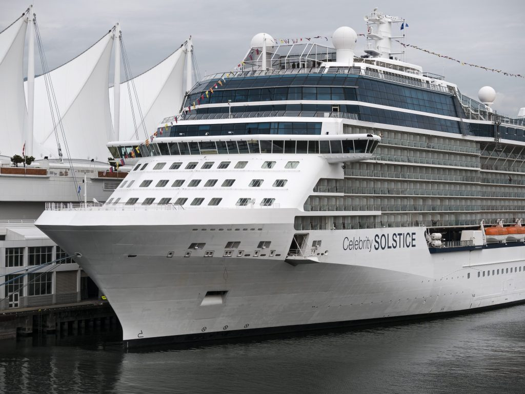 "The cruise ship ""Celebrity Solstice"" docked at Canada Place, Vancouver, B.C., September 9, 2016."