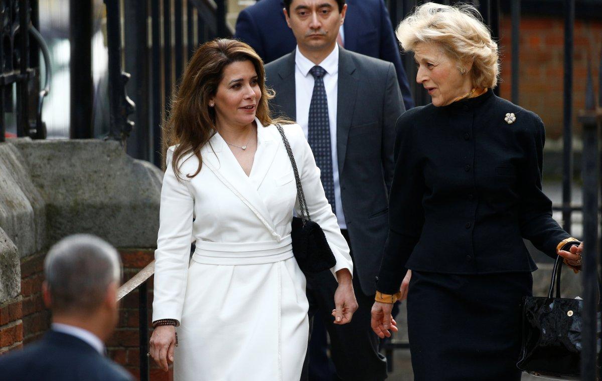 Princess Haya bint Al Hussein, the wife of Dubai's Sheikh Mohammed bin Rashid Al Maktoum, and her lawyer Baroness Fiona Shackleton arrive at the High Court in London, Britain February 26, 2020.