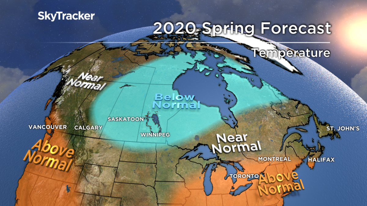 2020 spring weather forecast: Warmer-than-normal patterns for much of Canada - image