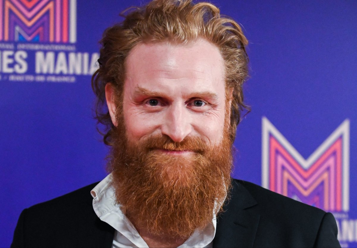 Kristofer Hivju poses during a Series Mania Festival photocall for Twin in Lille on March 28, 2019.