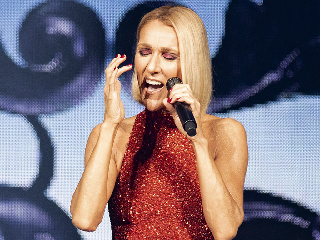 Celine Dion performs during the Courage world tour on Wednesday, Sept. 18, 2019 at the Videotron Centre in Quebec City.