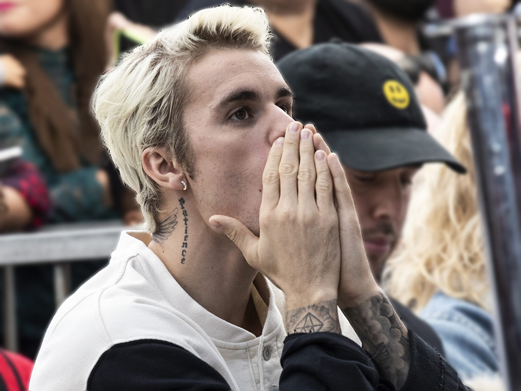 Canadian singer Justin Bieber attends the ceremony honoring Universal Music Group CEO Sir Lucian Grainge with the 2,685th star on the Hollywood Walk of Fame, in Hollywood, Calif., on Jan. 23, 2020.