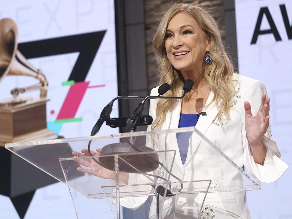 In this Wednesday, Nov. 20, 2019, file photo, Recording Academy President/CEO Deborah Dugan participates in the 62nd Grammy Awards nominations news conference at Studio 43 at CBS Broadcast Center in New York City.