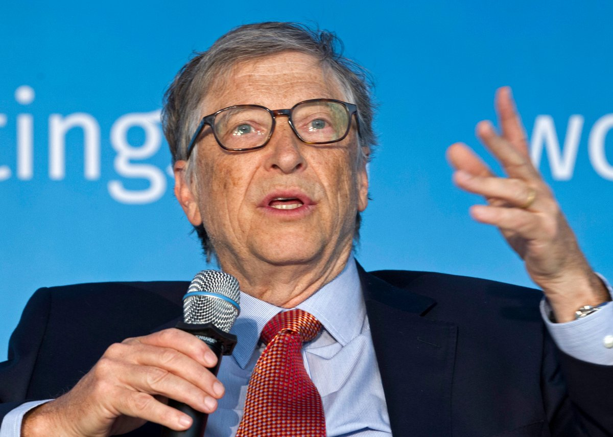 FILE - In this April 21, 2018, file photo, Bill Gates speaks in Washington.