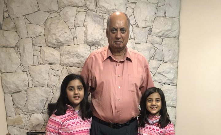 Burnaby's Jiwan Basi with his two granddaughters.