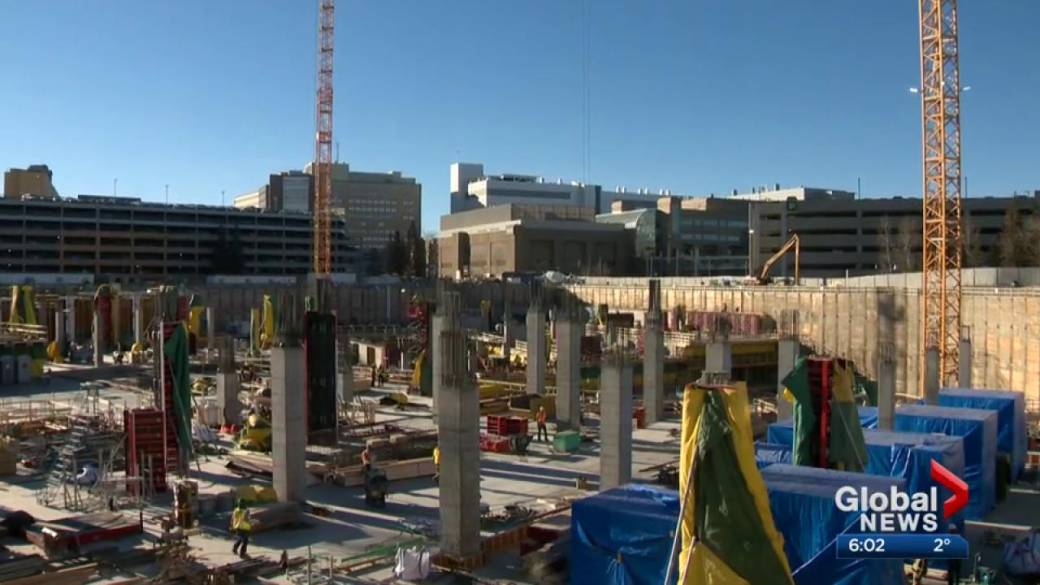 The construction site at the new Calgary Cancer Centre.