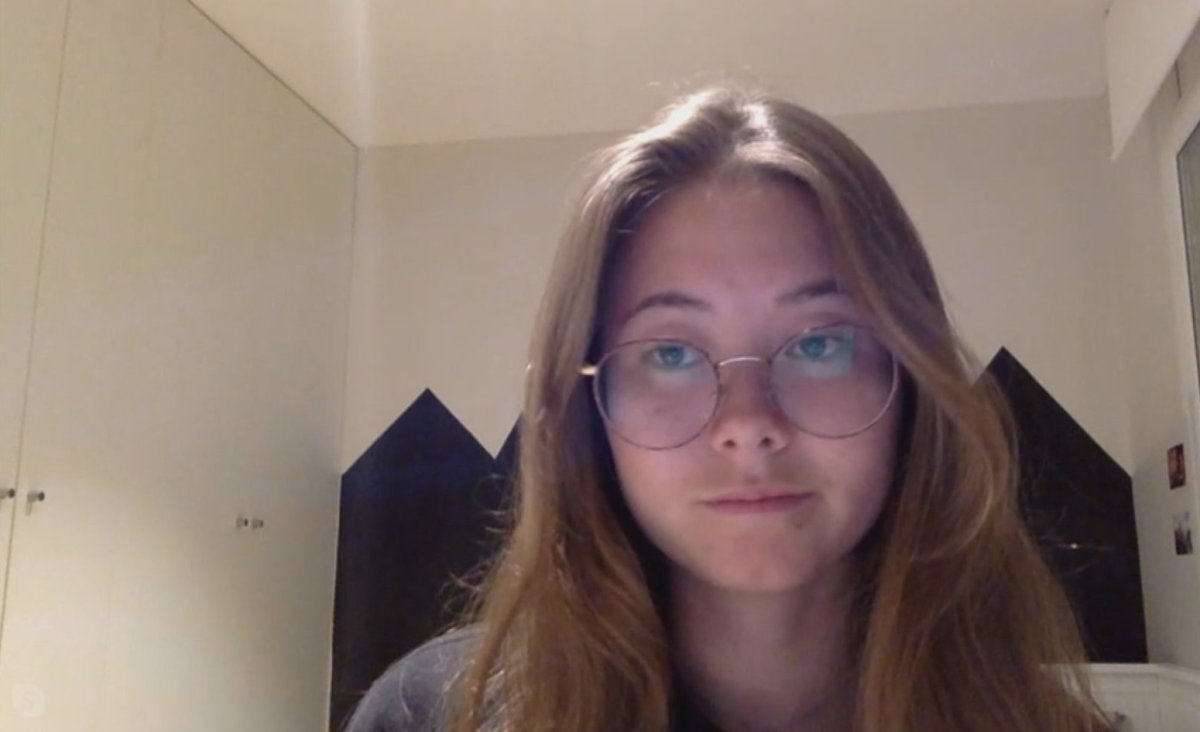 Calgarian Carmen Lee, 23, (pictured on March 15, 2020) is under quarantine for COVID-19 in Barcelona.