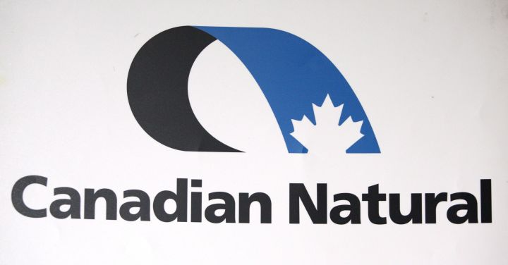 Canadian Natural Resources Ltd. logo, is seen at the company's annual meeting in Calgary on May 3, 2012.