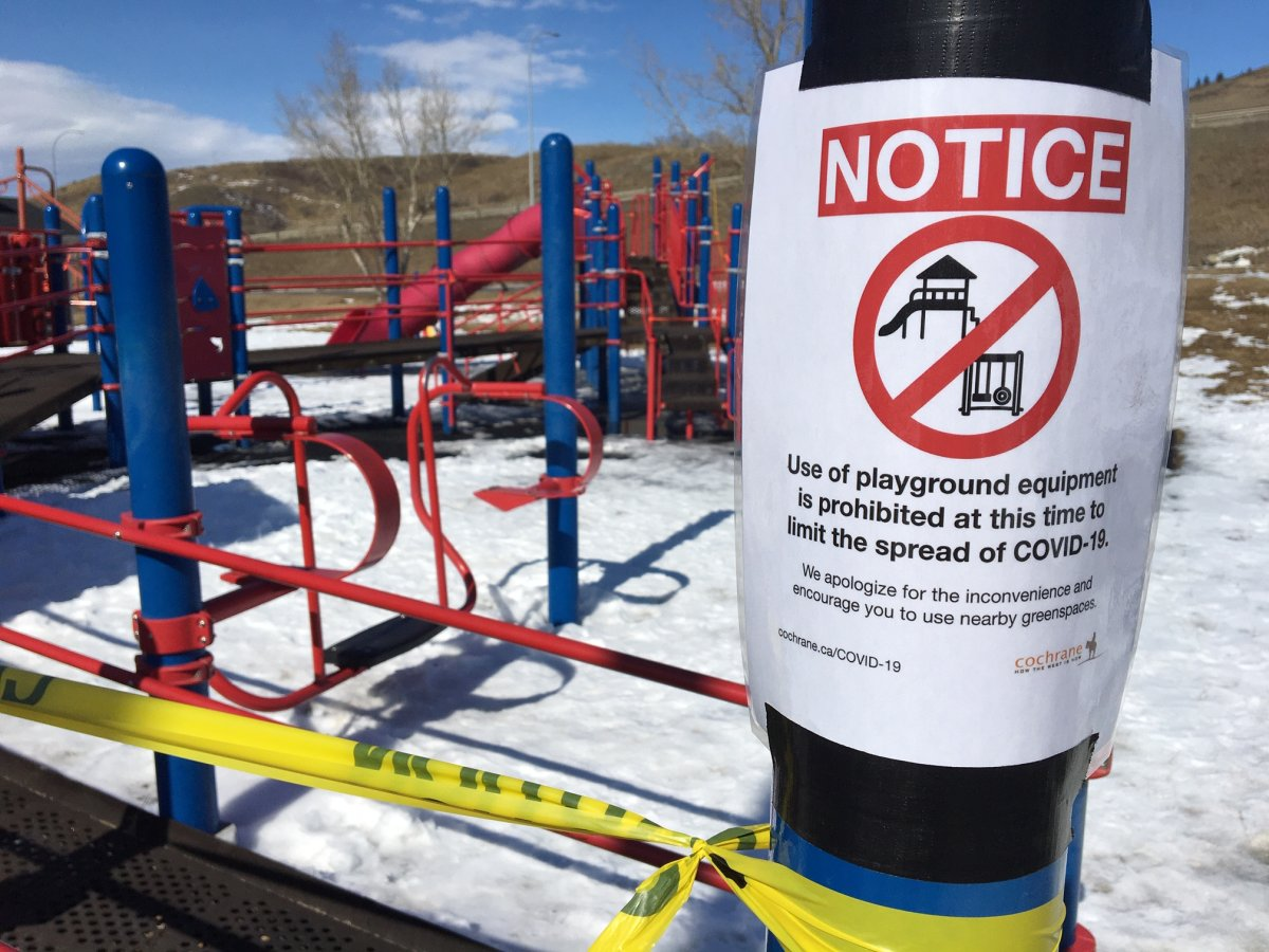 The town of Cochrane, west of Calgary, previously closed all playgrounds amid COVID-19 concerns.