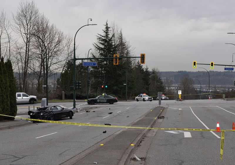 A collision at Mariner Way and Riverview Crescent claimed the life of a 13 year old girl, after a black BMW spun out and struck a group of pedestrian waiting in the crosswalk.