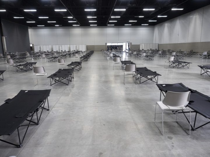 A look at how the Edmonton Expo Centre is being used for the city's homeless and vulnerable populations amid the COVID-19 pandemic.