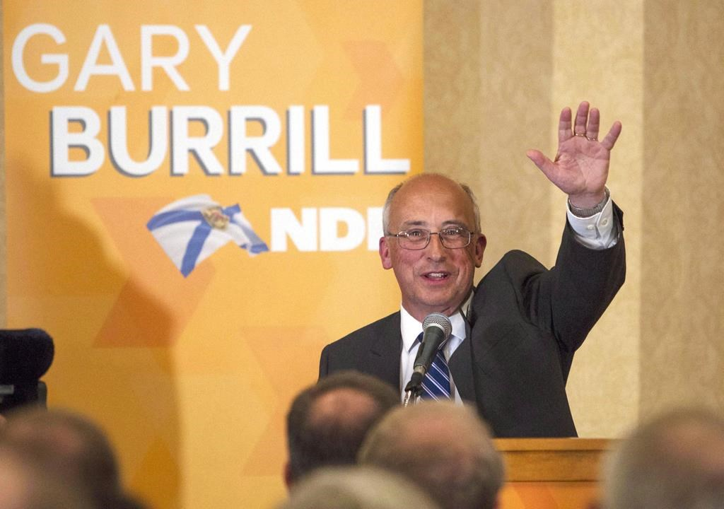 """Nova Scotia NDP leader Gary Burrill, waves to supporters after winning his seat following the Nova Scotia provincial election in Halifax, N.S. on May 30, 2017. Nova Scotia Premier Stephen McNeil says his government is considering legislation proposed by the NDP that would establish so-called bubble zones to prohibit protests against abortion services at hospitals. NDP Leader Gary Burrill says while his party's bill is """"super focused"""" on a specific need, it is open to negotiating with the government to accomplish the overall goal."""