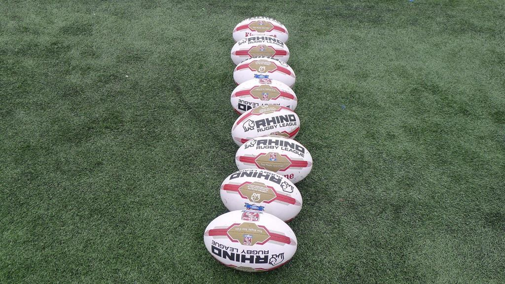 Rugby balls sit at a Toronto Wolfpack rugby team practice in Toronto on Thursday, May 4, 2017. Ottawa will unveil its new rugby league team on Monday. Eric Perez, co-founder and the first CEO of the Toronto Wolfpack, heads a Canadian consortium that acquired England's Hemel Stags with the goal of moving it to Ottawa. THE CANADIAN PRESS/Neil Davidson.