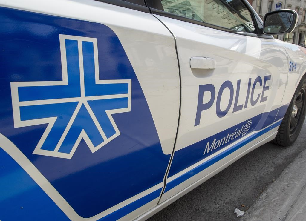 A Montreal police car is seen Friday, April 5, 2019 in Montreal.