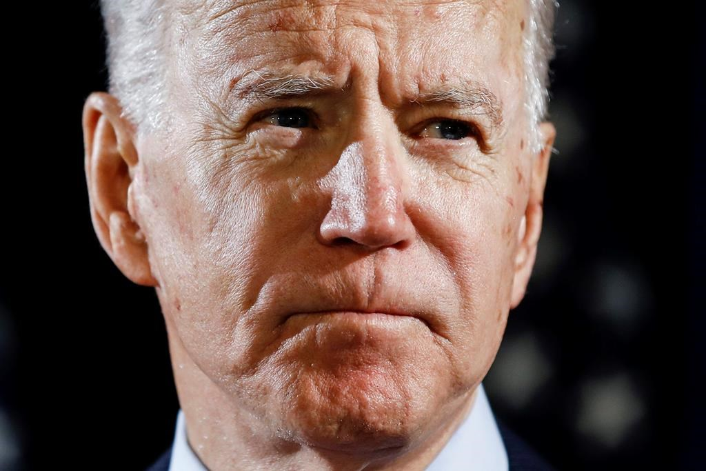 Democratic presidential candidate former Vice President Joe Biden speaks about the coronavirus March 12, 2020, in Wilmington, Del.