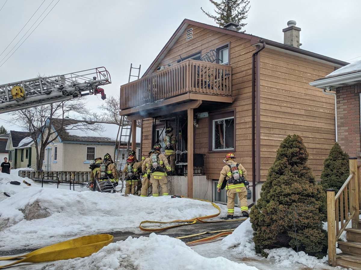 Ottawa firefighters tackled a fire at this two-storey triplex on Dieppe Street in Vanier on Thursday morning.