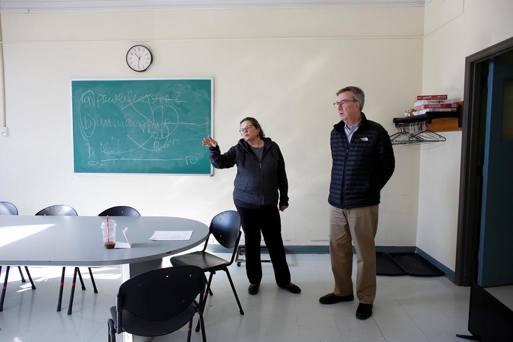 Wendy Muckle, CEO of Ottawa Inner City Health, gave Ottawa Mayor Jim Watson a tour last month of a COVID-19 isolation centre for vulnerable residents in downtown Ottawa.