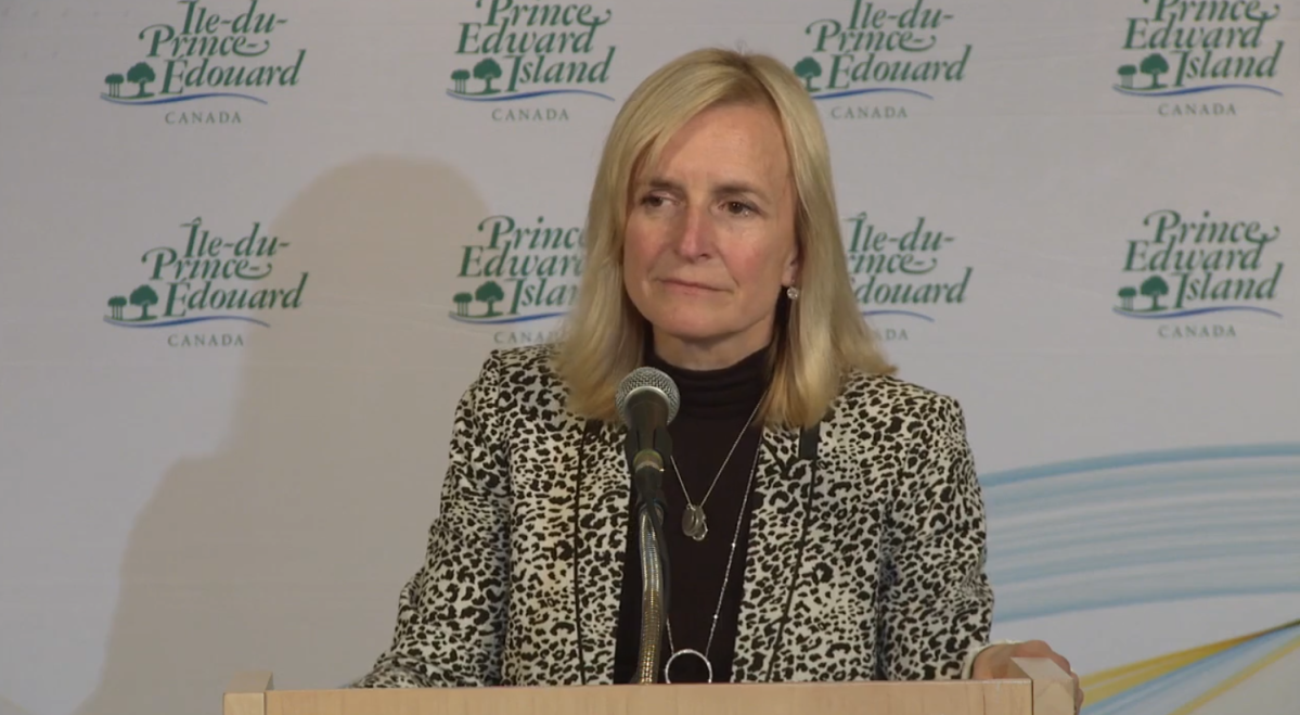 Dr. Heather Morrison, Prince Edward Island's chief medical officer of health, announces the province's first confirmed case of coronavirus on Saturday, March 14, 2020.