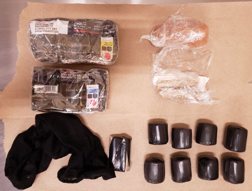 OPP say a package containing contraband items was discovered inside the walls of Collins Bay Institution on March 24, 2020.