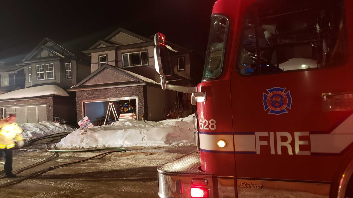Edmonton home damaged in fire, March 21, 2020.