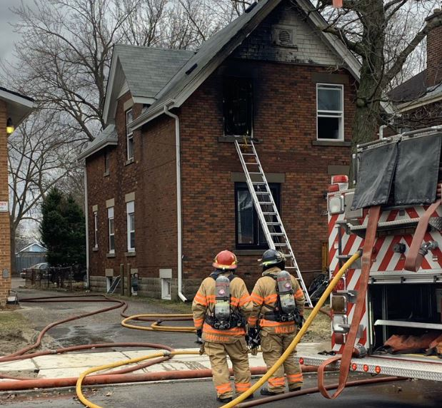 London fire crews responded to a blaze at a home on Egerton Street that caused $80,000 in damage Friday morning.