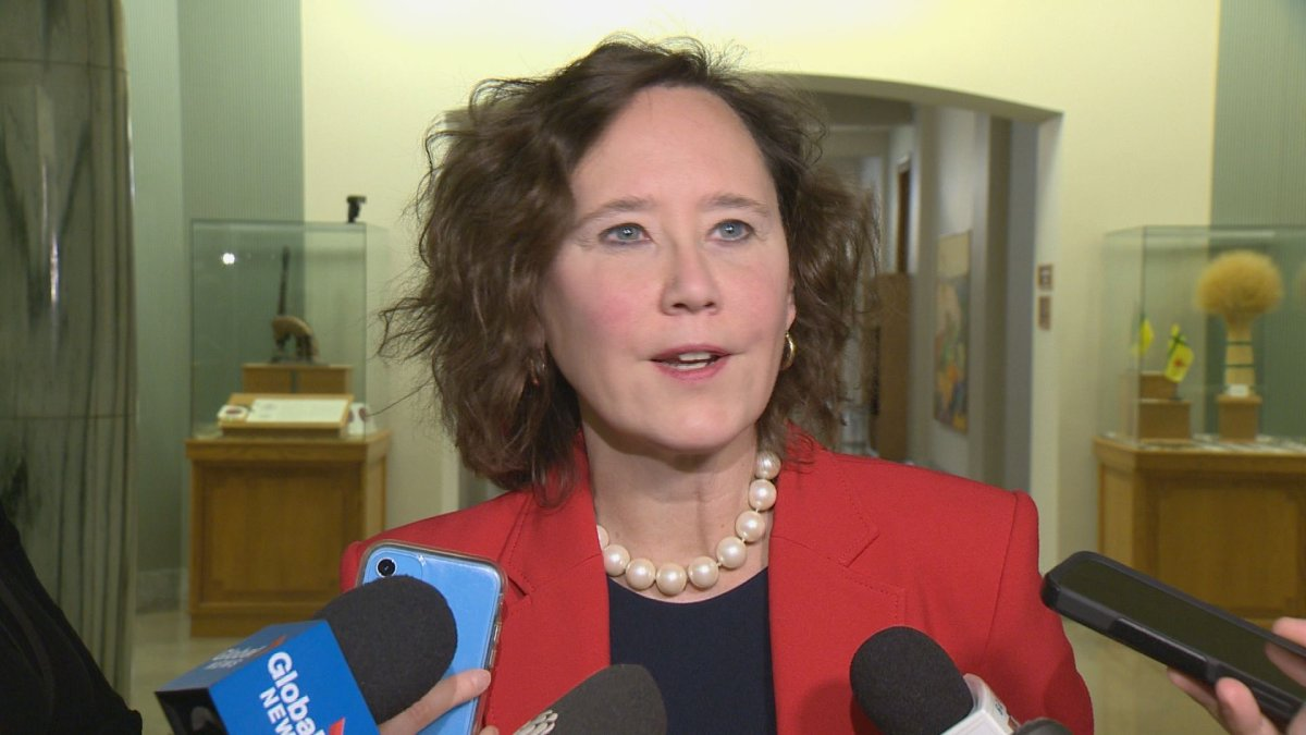 Saskatchewan Energy and Resources Minister Bronwyn Eyre. SaskEnergy recorded income before unrealized market value adjustments of $66 million in 2019-20.