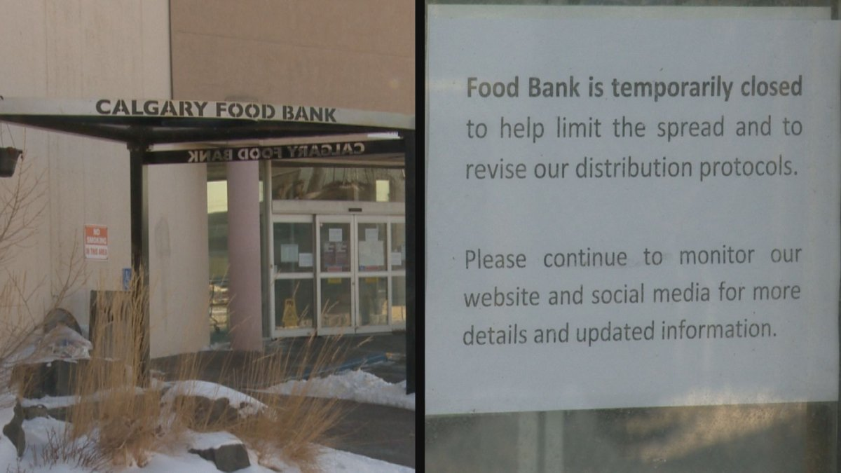 On Monday, the Calgary Food Bank temporarily ceased all operations so it could revamp its health and safety procedures amid COVID-19 concerns.